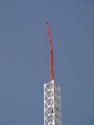 鉄塔のてっぺん。